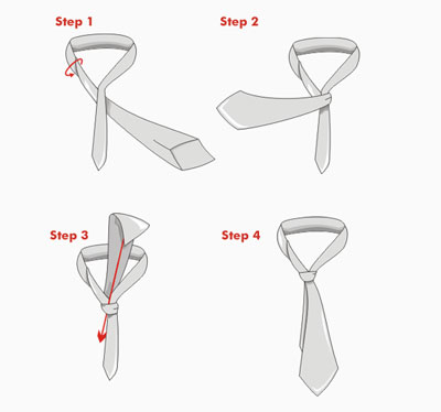 Как завязать галстук двойным узлом
